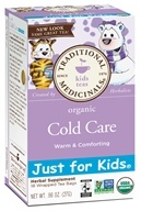 Traditional Medicinals - Just for Kids Organic Cold Care Tea - Winter Season Tea - 18 Bags (032917001856)