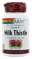 Solaray - Guaranteed Potency Milk Thistle Extract 175 mg. - 60 Vegetarian Capsules - $12.57