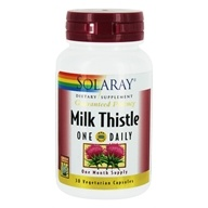 Image of Solaray - Guaranteed Potency Milk Thistle One Daily - 30 Vegetarian Capsules