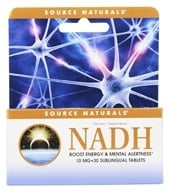 Source Naturals - NADH Sublingual Peppermint 10 mg. - 30 Tablets - $25.98