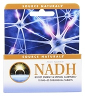 Source Naturals - NADH Sublingual Peppermint 10 mg. - 30 Tablets (021078020851)