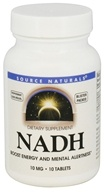 Image of Source Naturals - NADH Sublingual Peppermint 10 mg. - 10 Tablets