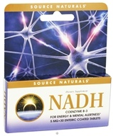 Source Naturals - NADH 5 mg. - 30 Enteric-Coated Tablets by Source Naturals