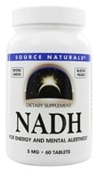 Source Naturals - NADH 5 mg. - 60 Tablets - $38.43