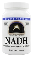 Source Naturals - NADH 5 mg. - 60 Tablets by Source Naturals