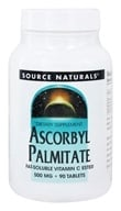 Image of Source Naturals - Ascorbyl Palmitate Fat-Soluble Vitamin C Ester 500 mg. - 90 Tablets
