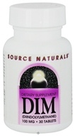 Source Naturals - DIM Diindolylmethane 100 mg. - 30 Tablets by Source Naturals