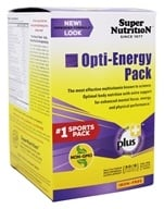 Super Nutrition - Opti-Energy Pack Iron Free - 30 Packet(s) formerly Opti-Pack