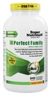 Super Nutrition - Perfect Family Iron Free - 240 Vegetarian Tablets (formerly Perfect Blend No Iron) - $46.55