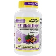 Super Nutrition - Prenatal Blend Antioxidant-Rich Multi-Vitamin/Mineral - 180 Vegetarian Tablets (033739001444)