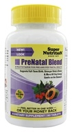 Super Nutrition - Prenatal Blend Antioxidant-Rich Multi-Vitamin/Mineral - 90 Vegetarian Tablets - $19.81