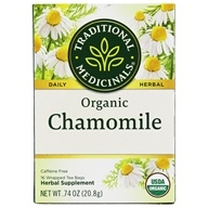Traditional Medicinals - Organic Chamomile Tea - Herbal Calmative and Digestive - 16 Tea Bags (032917001566)