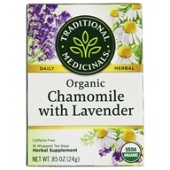 Traditional Medicinals - Organic Chamomile Tea with Lavender - For Nervous Stomach - 16 Tea Bags (032917000545)