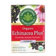 Traditional Medicinals - Organic Echinacea Plus Elderberry - 16 Tea Bags formerly Echinacea Elder (032917001542)
