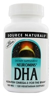 Source Naturals - Neuromins DHA 100 mg. - 120 Vegetarian Softgels DAILY DEAL