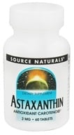 Source Naturals - Astaxanthin Antioxidant Carotenoid 2 mg. - 60 Tablets, from category: Nutritional Supplements