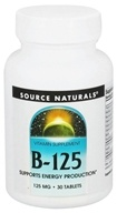 Image of Source Naturals - B-125 - 30 Tablets