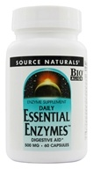 Image of Source Naturals - Daily Essential Enzymes Digestive Aid 500 mg. - 60 Capsules