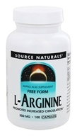 Source Naturals - L-Arginine Free Form 500 mg. - 100 Capsules (021078016878)