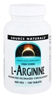 Source Naturals - L-Arginine Free Form 500 mg. - 100 Tablets, from category: Sports Nutrition