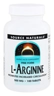 Source Naturals - L-Arginine Free Form 500 mg. - 100 Tablets (021078012795)