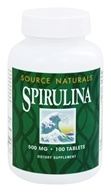 Source Naturals - Spirulina 500 mg. - 100 Tablets