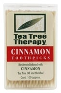 Image of Tea Tree Therapy - Tea Tree Toothpicks Cinnamon - 100 Pick(s)