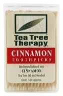 Tea Tree Therapy - Tea Tree Toothpicks Cinnamon - 100 Pick(s) - $2.08