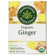 Traditional Medicinals - Organic Ginger Herbal Tea - 16 Tea Bags
