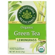 Traditional Medicinals - Organic Green Tea With Lemongrass - 16 Tea Bags (032917001016)