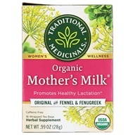 Traditional Medicinals - Organic Mother's Milk Tea - Promotes Healthy Lactation - 16 Tea Bags