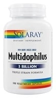 Solaray - Multidophilus 3 Billion Triple Strain Formula - 180 Capsules