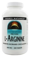 Source Naturals - L-Arginine Free Form 500 mg. - 200 Tablets, from category: Nutritional Supplements