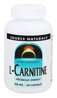 Source Naturals - L-Carnitine 500 mg. - 60 Capsules (021078014645)