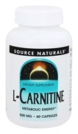 Source Naturals - L-Carnitine 500 mg. - 60 Capsules, from category: Nutritional Supplements