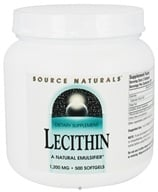 Source Naturals - Lecithin 1200 mg. - 500 Softgels - $22.10