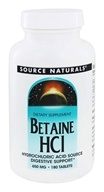 Source Naturals - Betaine HCl Hydrochloric Acid Source 650 mg. - 180 Tablets