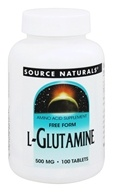 Image of Source Naturals - L-Glutamine 500 mg. - 100 Tablets