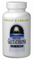 Source Naturals - Reduced Glutathione 50 mg. - 60 Tablets - $7.05