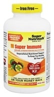 Super Nutrition - Super Immune MultiVitamin Iron Free - 120 Vegetarian Tablets formerly Super Blend - $36.84