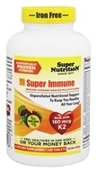 Super Nutrition - Super Immune MultiVitamin Iron Free - 120 Vegetarian Tablets formerly Super Blend (033739001888)