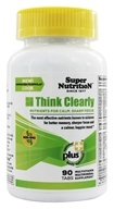 Super Nutrition - Think Clearly - 90 Vegetarian Tablets - $19.19