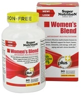 Super Nutrition - Women's Blend Iron Free - 90 Vegetarian Tablets - $19.81