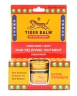 Tiger Balm - Extra Strength Pain Relieving Ointment - 0.63 oz. Formerly Red (039278220100)