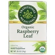 Traditional Medicinals - Organic Raspberry Leaf Tea - 16 Tea Bags (032917000675)