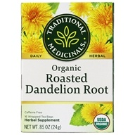 Traditional Medicinals - Organic Roasted Dandelion Root Tea - 16 Tea Bags (032917001658)