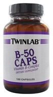 Twinlab - B-50 Vitamin B-Complex - 100 Capsules, from category: Vitamins & Minerals