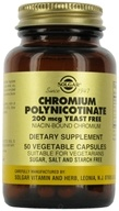 Solgar - Chromium Polynicotinate Yeast Free 200 mcg. - 50 Vegetarian Capsules, from category: Vitamins & Minerals