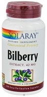 Solaray - Guaranteed Potency Bilberry Extract 42 mg. - 120 Capsules (076280031010)