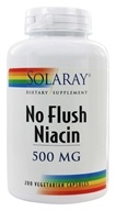 Image of Solaray - No Flush Niacin 500 mg. - 200 Vegetarian Capsules